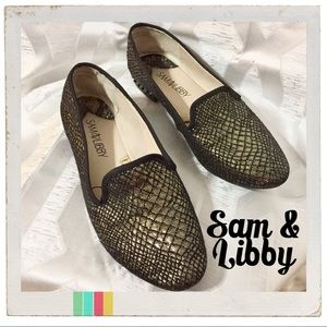 Sam & Libby Gold and Black Loafers